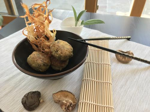 shitake croquettes fried gluten free dairy free japanese food