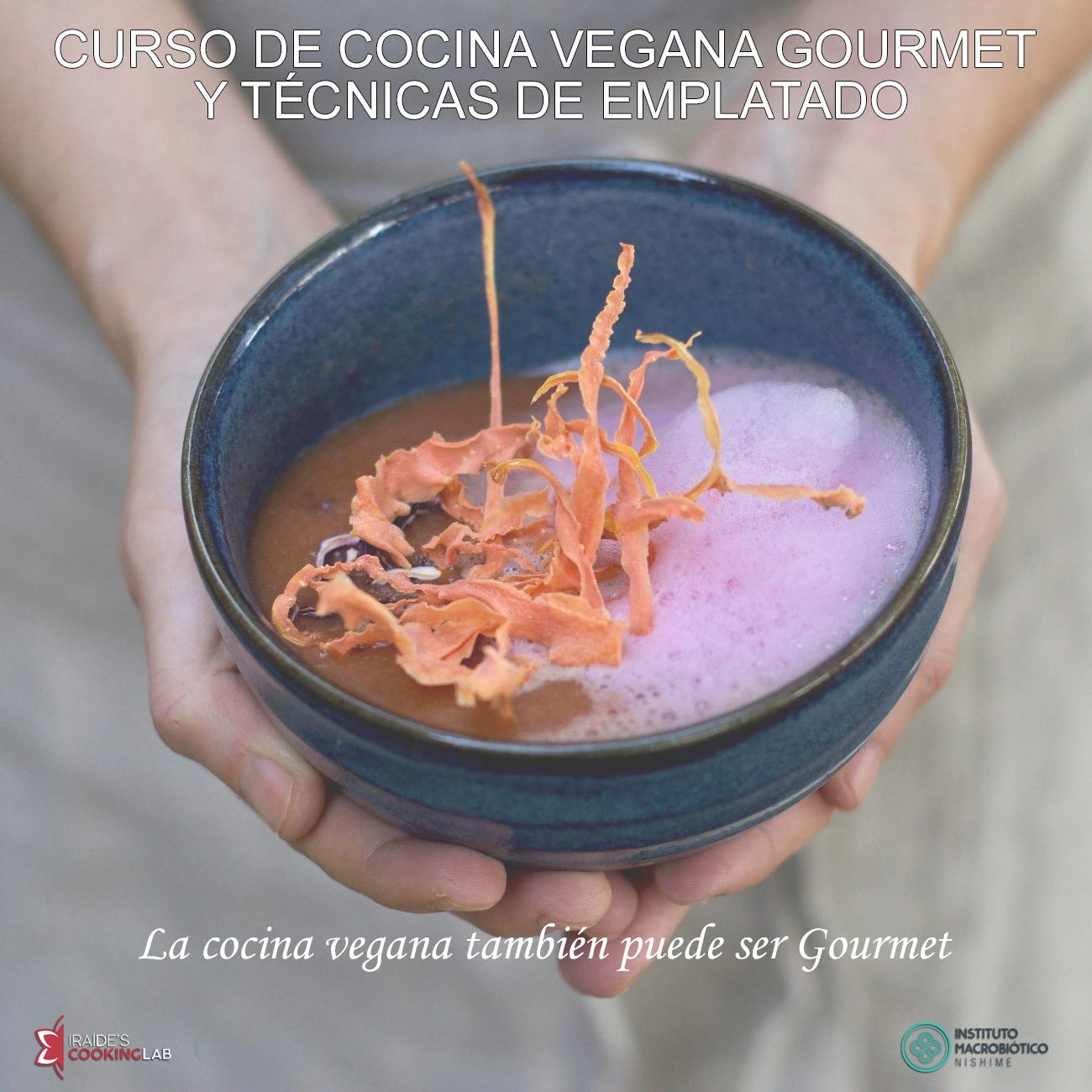 curso cocina vegana gourmet iraidescookinglab